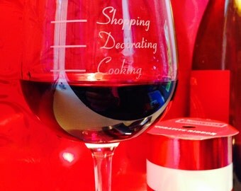 Holiday d'Stress wine glass - funny wine glass