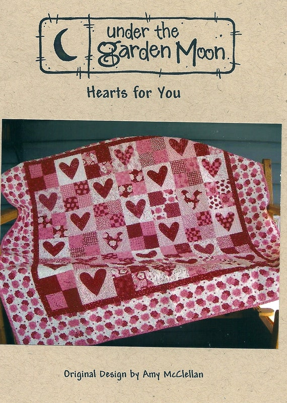 Hearts For You Quilt Pattern By Under The Garden Moon