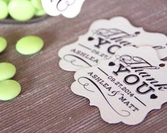 Printable Wedding Favor Tag, Thank You Swing Tag // DIY Printable Wedding Reception Decor // Rustic Wedding Favor Tags