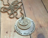 Stronger than Yesterday Necklace, Nickel Version