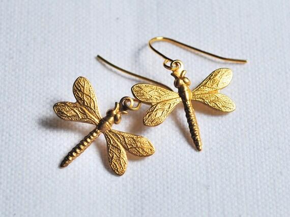 dragonfly earrings kitsch jewellery fashion jewelery by