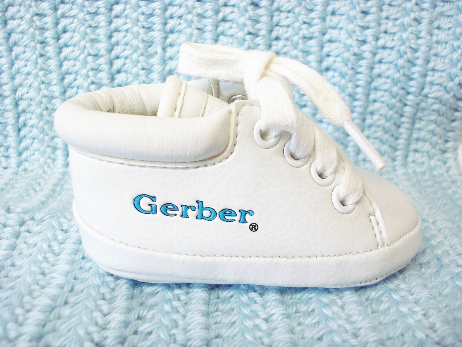 vintage baby shoes baby tennis shoes white high by