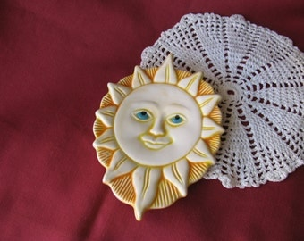 Sun Ceramic Teabag Holder, Spoon Rest or Trinket Dish, Celestial