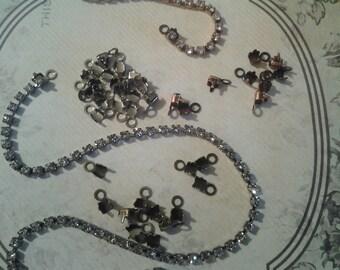 4 mm Rhinestone cup chain ends-rhinestone connector-ends for rhinestone chain-rhinestone chain loop end-High quality-Nickle free -RhinCon
