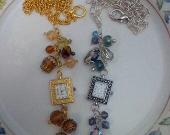 Crystal Watch Pendant