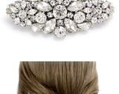 Wedding Hair Clip Rhinestone Hair Clip Barrette Bridal Hair Comb Hair Accessory Wedding Jewelry Bridal Jewelry Wedding Barrette daisy