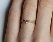 Trillion Wedding Set, Wedding Ring Set, Diamond Ring Set, Trillion Diamond Ring