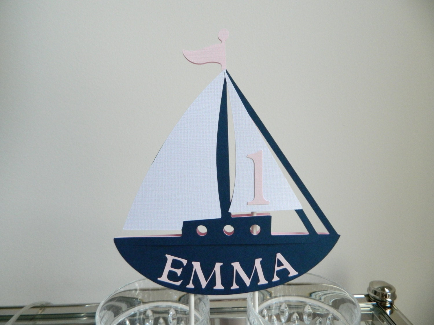 Sailboat Cake Topper Nautical CakeTopper Sailboat Party