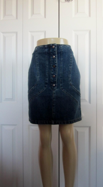 vintage denim skirt deadstock harve benard skirt by