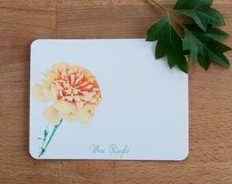 Marigold Personalized Stationery Set, Stationary Gift Set