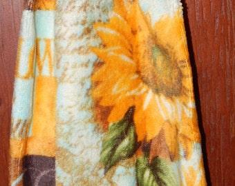 Sunflower Crochet Top Large Size Towel