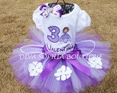 Princess Sofia the First Tutu Set with Number and Bow - Birthday Set