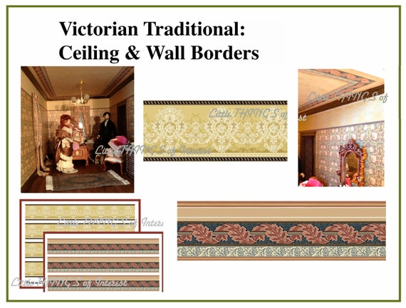 Miniature VICTORIAN Ceiling Boarder and by ...