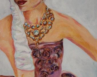 """Smirk - Original Acrylic Painting 18x24"""""""