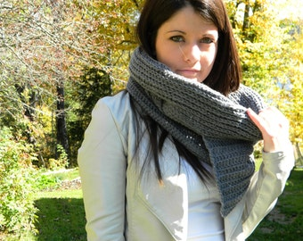 46 - Crochet cowl, scarf pattern - Instant download