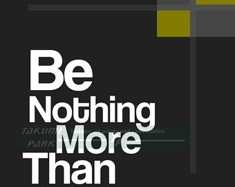 Be Nothing More Than Extraordinary Quote Art Print, Inspirational Art, Motivational Wall Decor, Typographic Print, Home Decor, Modern Art