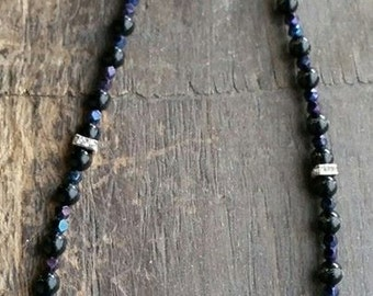 Blue Glass Bling Necklace