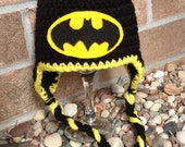 MADE TO ORDER Batman Hat: Baby to Adult Custom Hat - Handmade and Crocheted with Love