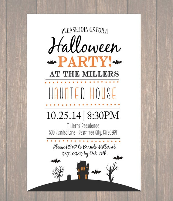 photograph relating to Printable Halloween Party Invitations named Printable Halloween Invitation, ,Do it yourself Haunted property, Haunted