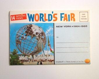 Vintage Postcard, World's Fair, New York - 1960s Paper Ephemera