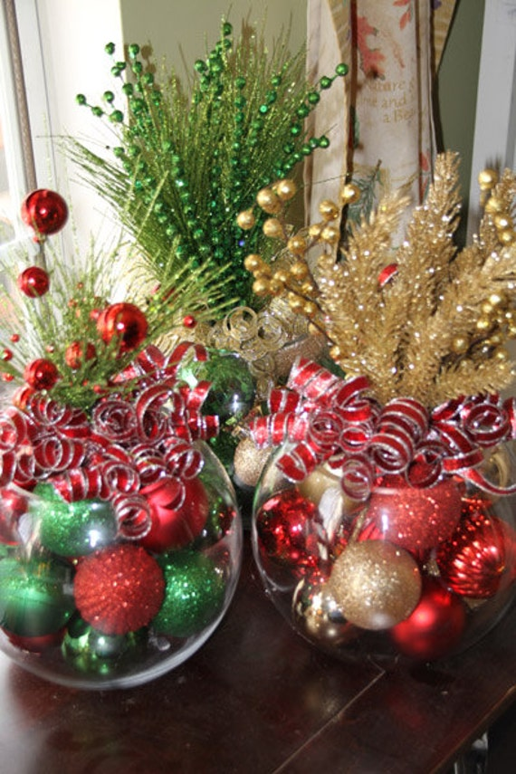 Christmas Centerpiece, Set of Five, Christmas Centerpieces, Corporate holiday party, Corporate christmas party centerpieces