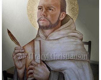 St. John of the Cross Art Print, Catholic Patron Saint #4109