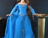 """MORGANA EL Sewing Pattern for 16"""" dolls Ellowyne Wilde, Thea , Prudence a Medieval Fantasy gown Suitable for a Fairy Tale Princess"""