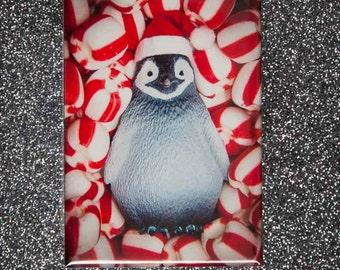 Stocking Stuffer Magnet: Peppermint Penguin