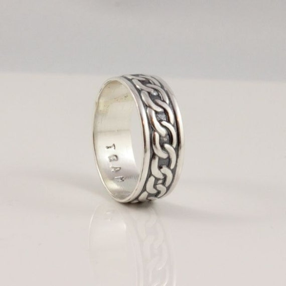 celtic wedding band sterling silver celtic infinity link wide band