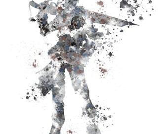 Squall Leonhart, Final Fantasy ART PRINT illustration, Gaming, Home Decor, Wall Art