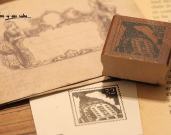 Korean wooden wood square Stamp Rubber Stamp Set stamp up stampin up