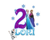 Disney Frozen Birthday Shirt - Sisters and Olaf Design