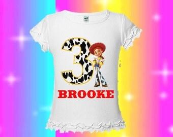 Jessie Toy Story Birthday Shirt - Cow Print