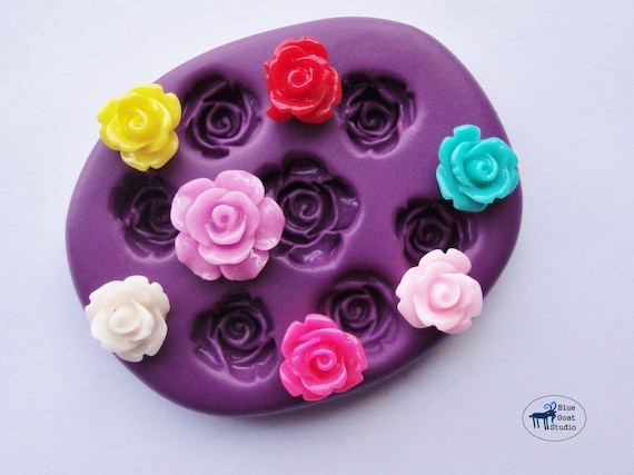 Rose Combo Mold Mould Mini Rose Silicone Molds