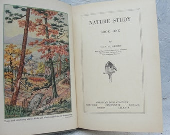 Agricultural Nature Study Book by JOHN H. GEHRS 1929 Color Illustrations