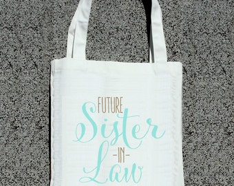 future sister in law wedding tote bags 10 00