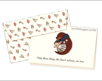 BBC Sherlock - Otterlock Valentines day greeting card