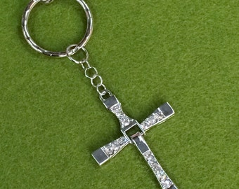 Dominic Toretto Cross Key Chain Bag Charm KC56