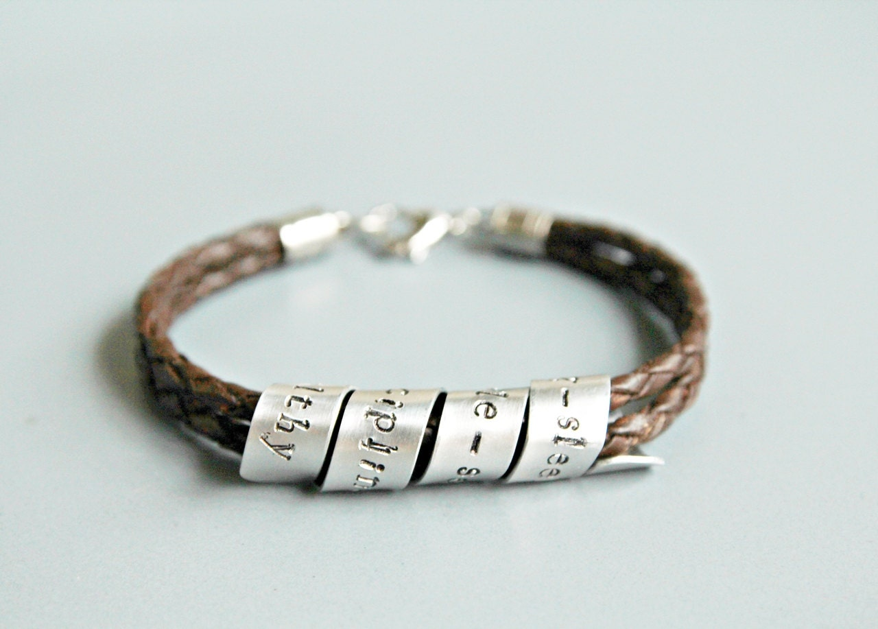 quote bracelet personalized leather bracelet by debenadesigns
