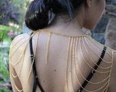 Gold Body Chain Harness Necklace Festival Jewelry Festival Accessories Shoulder Chain Body Chain Body Jewelry Gold Shoulder Chain