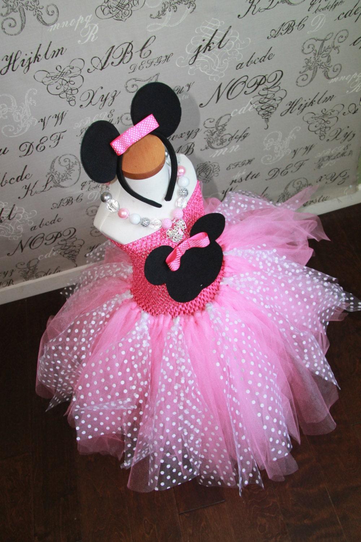 Minnie mouse princess pink or red tulle tutu halloween costume - Princesse minnie ...