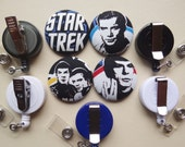 Retractable Badge Holder - Fabric Covered Button - Trek Yourself!