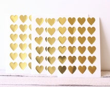 Gold Heart Stickers, 108-3/4 Inch, Gold Heart Label, Gold Wedding  Decor, Gold Sticker, Food Packaging, Heart Sticker, Gold Label