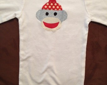 Sock Monkey Baby Onesie