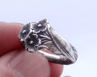Reed And Barton Spoon Ring Forget Me Not In Sterling Silver, Forget-Me-Not Ring, Silver Spoon Ring, Spoon Jewelry, Silver Spoon Ring
