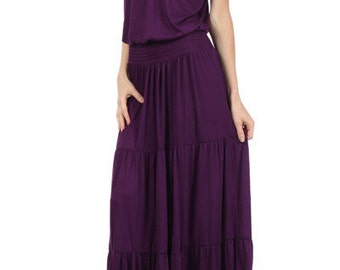 Purple Maxi, Purple Strapless, Purple Strapless Maxi, Women's Clothing, Gift for Her, Valentine Gift, Girlfriend Gift, Gift