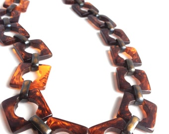 Vintage YSL Faux Tortoise Bakelite Necklace/Belt