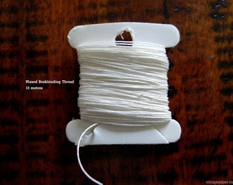 Waxed Linen Bookbinding Thread - Choose from 3 weights and 3 sizes
