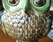 CARLOS VILLANUEVA Mexican Pottery Owl.    Free Shipping for a limited time.