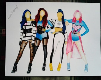 Little Mix Drawing